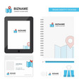 map business logo tab app diary pvc employee card vector image
