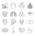 medicine cooking travel and other web icon in vector image vector image