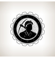 Miner with Pick Axe Vintage Emblem