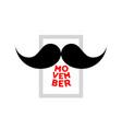movember mustache icon vector image vector image