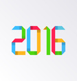 New year 2016 origami vector image