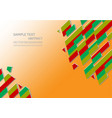 orange abstract background with copy space for vector image vector image
