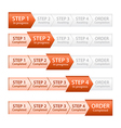 Orange Progress Bar for Order Process vector image vector image