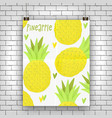 pineapple exotic design vector image vector image