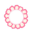 pink morning glory flower banner wreath vector image vector image