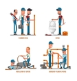 Plumbing work Plumbers and repairs vector image
