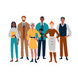 portrait business team standing together vector image vector image