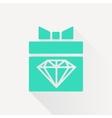 present diamond icon vector image