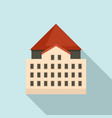 riga old city building icon flat style vector image vector image