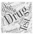 saliva drug test Word Cloud Concept vector image vector image