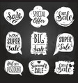 set of sale lettering in comic speech vector image vector image