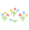 silhouettes flowers vector image vector image