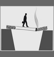 smoking kills conceptual poster vector image vector image