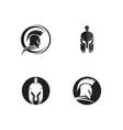 spartan helmet logo template vector image
