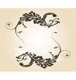 Stylish vintage floral frame Design for vector image