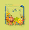 thanksgiving card vector image