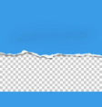torn bottom side of sheet of blue paper vector image vector image