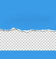 torn bottom side sheet blue paper vector image