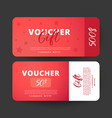 voucher template design usable for gift coupon vector image