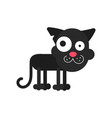 walking cat icon cat silhouette symbol linear vector image