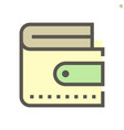 wallet icon design for financial graphic design vector image