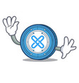 waving gxshares coin character cartoon vector image vector image