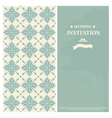 Wedding invitation card with vintage floral vector image