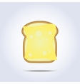 White bread toast icon with cheese vector image