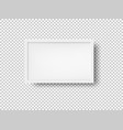 white picture frame vector image vector image