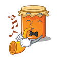 with trumpet jam mascot cartoon style vector image vector image