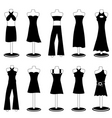 woman fashion clothes vector image vector image