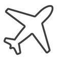airplane line icon web and mobile flight mode vector image