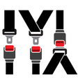 Safety seatbelt icon vector image