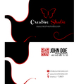 Abstract black business card vector image vector image