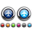Aircraft button vector image vector image