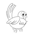 animal outline for little bird vector image vector image