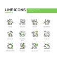 Animals - line design icons set vector image