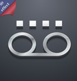 audio cassette icon symbol 3D style Trendy modern vector image