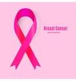awareness pink ribbon the international symbol vector image vector image