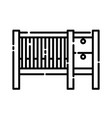 baby cribs icon design clip art line icon vector image vector image