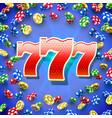 big win slots 777 banner casino vector image vector image