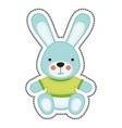 bunny toy icon image vector image