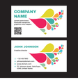Business Visit Card with Abstract Colored Petals vector image vector image