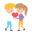 cartoon couple in love vector image vector image