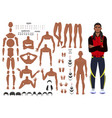 characters set for animation parts of body vector image vector image