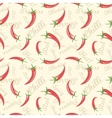 Chili peppers seamless pattern vector image