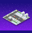 christmas city isometric vector image vector image