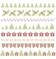 Christmas embroidering elements vector image