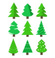 christmas tree set stock vector image