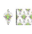 colibri watercolor print and seamless vector image